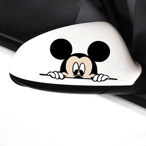 Image 4 - おかしいミッキーマウス車のステッカーカットのぞきカバーかわいい漫画カラフルな人格ファッションステッカー窓と車のテール