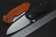 OEM ZT0456 Flipper folding knife bearing D2 blade G10 handle outdoor Survival camping hunting pocket knife  tools