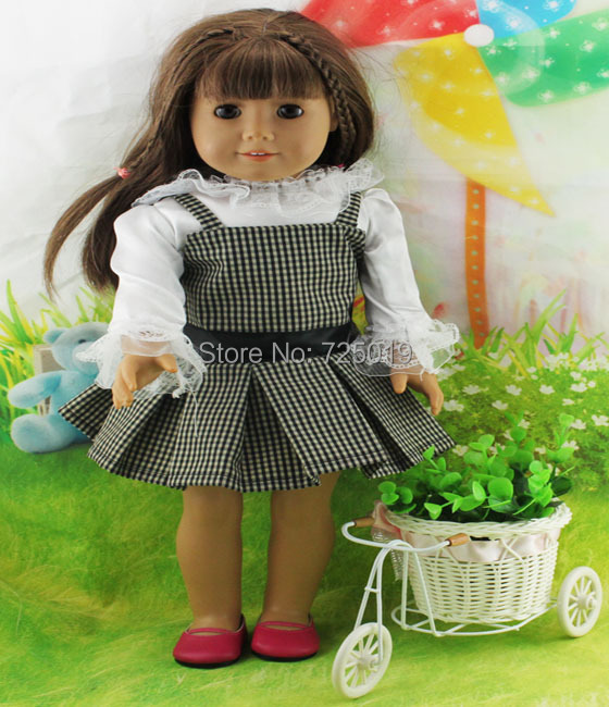 Free shipping hot 2014 new style Popular 18 American girl doll clothes dress b24