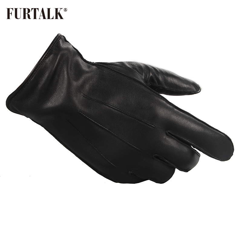 Bekleidung Zubehör Gut Furtalk Mode Männer Winter Echtes Lammleder Handschuhe Mode Mit Warmer Kaschmir Futter Taktische Handschuhe Schmerzen Haben