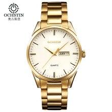 Часы мужчины 2016 OCHSTIN бренд Спорт Полная Сталь Двойной Дата Кварцевые часы reloj hombre Армия Военные наручные часы relogio masculino
