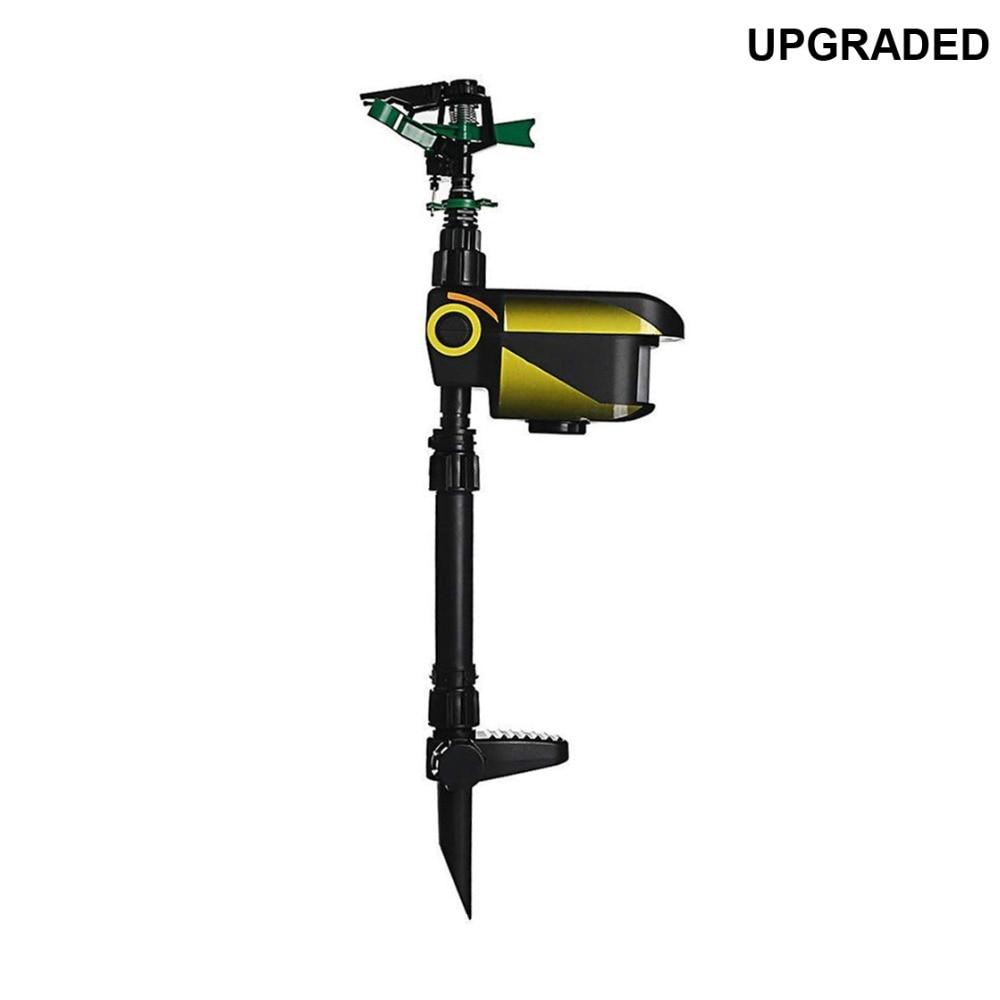 Upgraded Solar Powered Motion Activated Animal Away Sprinkler, Water Jet Blaster Animal Pest Repeller,Garden Scarecrow Deterrent