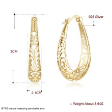 Big Hoop Classic Hollow Out Flower Earrings for Women