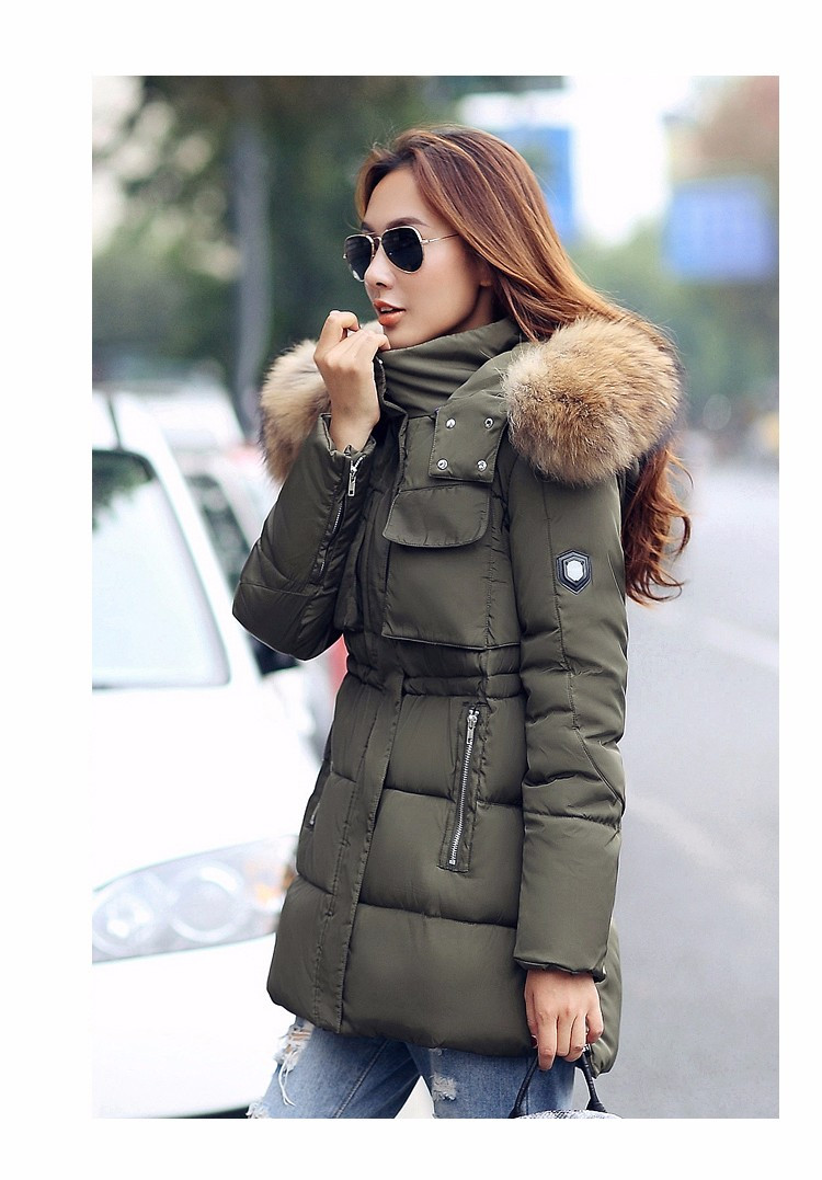 43a84f93264 2019 YEYELANA Women Winter Jacket Large Real Fur 2017 New Winter ...