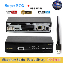 Satellite Receiver  V Super box  DVB-S2 Full 1080P USB Wifi Antenna For 1 Year Europe Cccam Server Spain Italy Polish TV