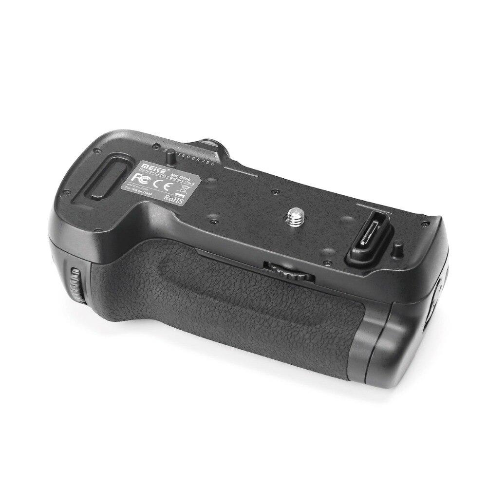 Bateria elétrica para câmeras nikon d850, pacote de energia meike MK-D850 vertical