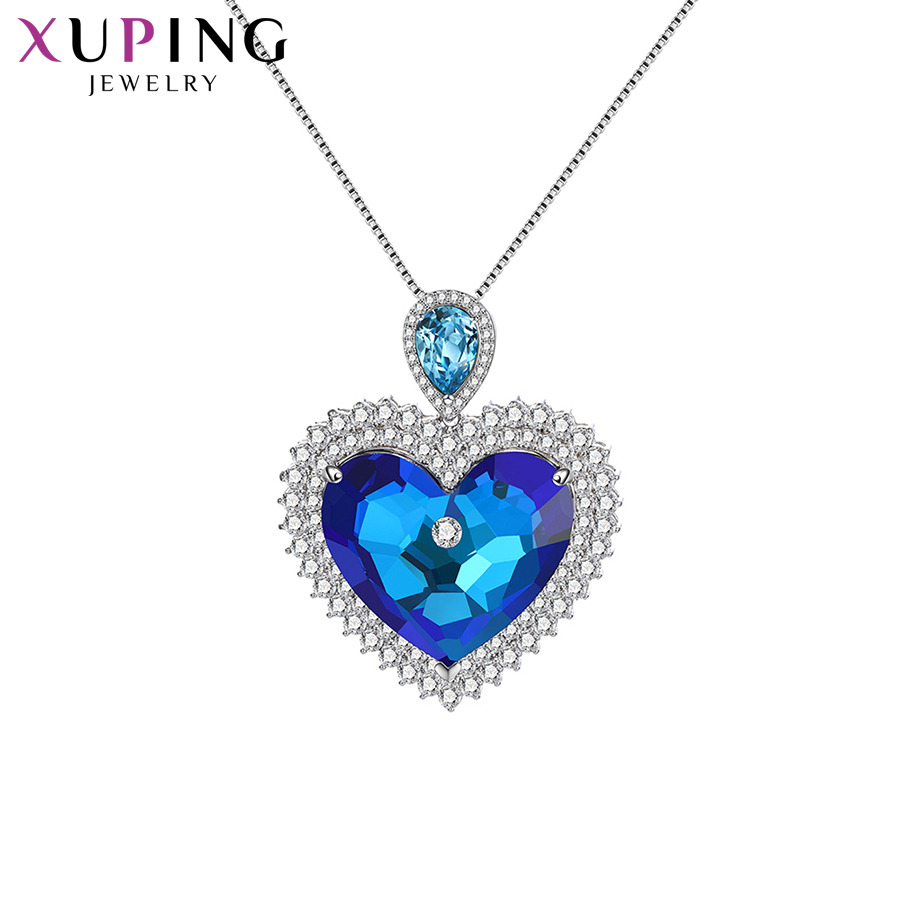 11.11 Xuping Fashion Pendant Necklaces Heart Shaped Crystals from Swarovski Exquisite Pendant for Women Gift M67-40161 цена