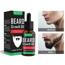 ALIVER Natural Beard Growth Oil Essential Fuller Thicker Beard Organic Mustache Softener M