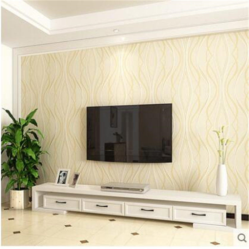 Beibehang Papel De Parede TV Background Wallpapers Simple Modern Living Room 3d Stereoscopic Nonwovens Video Wallpaper