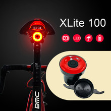 Xlite100 Bicycle Rear Light LED USB Rechargeable Mount Flash Bicycle Taillight Bike Light Back Smart Flashlight Waterproof Lamp(China)
