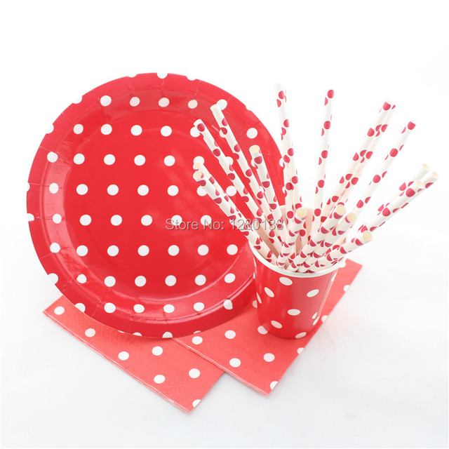 Red Chevron Striped Dot Pattern Party Paper Tableware Wedding Table Decor Paper PlatesParty Cups  sc 1 st  AliExpress.com & Red Chevron Striped Dot Pattern Party Paper Tableware Wedding ...