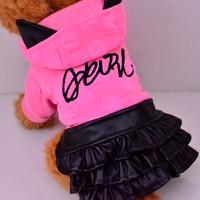 2016 New Pet Autumn And Winter PU Skirt Little Devil Dog Dress Dog Clothes Pet Costume