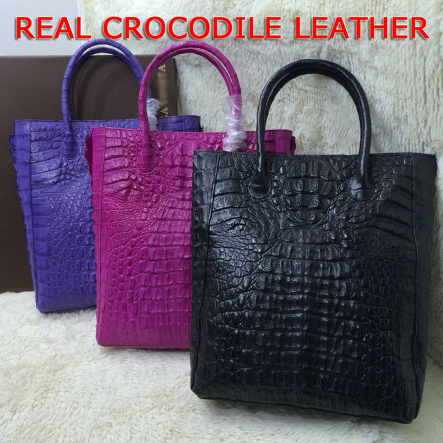 Designer Brand New Style Crocodile Leather Bucket Bag Genuine Crocodilian Tote Handbags Fashion Women Alligator
