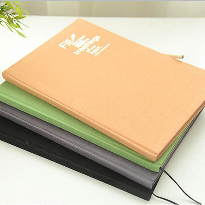 Blank A4 Sketchbook Diary For Drawing Painting Notebook Paper 48 Sheets Professional Sketch Book Office School Supplies Gift