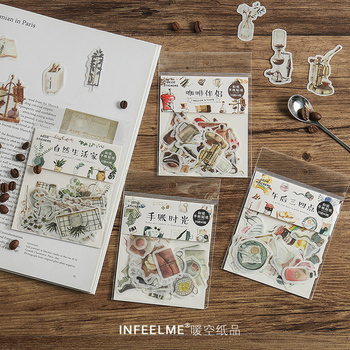 40 Pcs/Bag New vintage natural life paper sticker decoration stickers DIY for craft diary scrapbooking planner label sticker