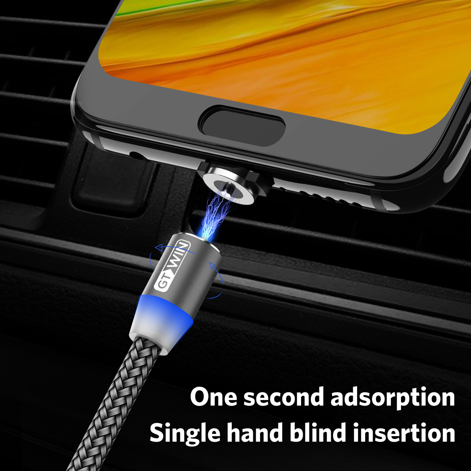 GTWIN Magnetic USB Cable For Iphone Type C Fast Charging Cord For Samsung S10 S9 Note 8 Magnet Micro Plug Wire For Xiaomi Huawei in Mobile Phone Cables from Cellphones Telecommunications