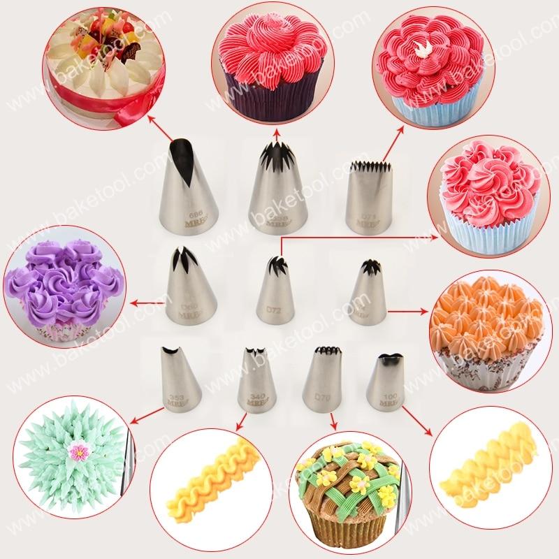 இEnvío libre 10 unids especial pastel boquillas set con 10 unids 16 ...