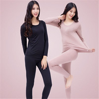 Wholesale 2018 new Modal Pajamas women sleepwear seamless O neck women thermal underwear women underwear plus size 4XL 5XL 6XL