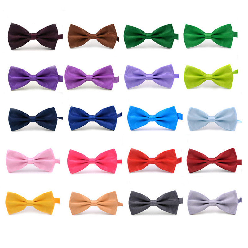 2017 New Fashion Boutique Mens Bow Slipsar för män Brudgum Bröllop Party Women Butterfly Bow Slips Solid Bowtie Män Gravata Cravate