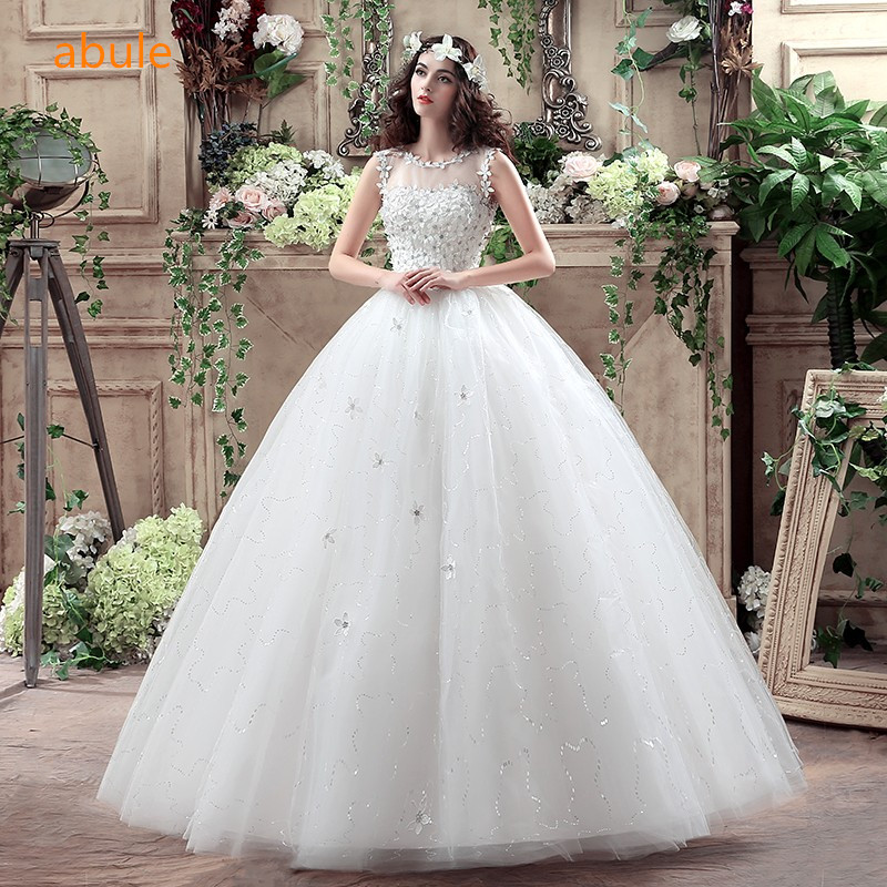 Abule new variety princess wedding dress lace lace up the beading bridal gown all size bridal