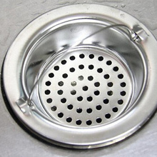 SHOWER-HAIR-FILTER-BASKET Kitchen-Sink-Strainer Cleaning-Accessories Bathroom Sewer Stainless-Steel