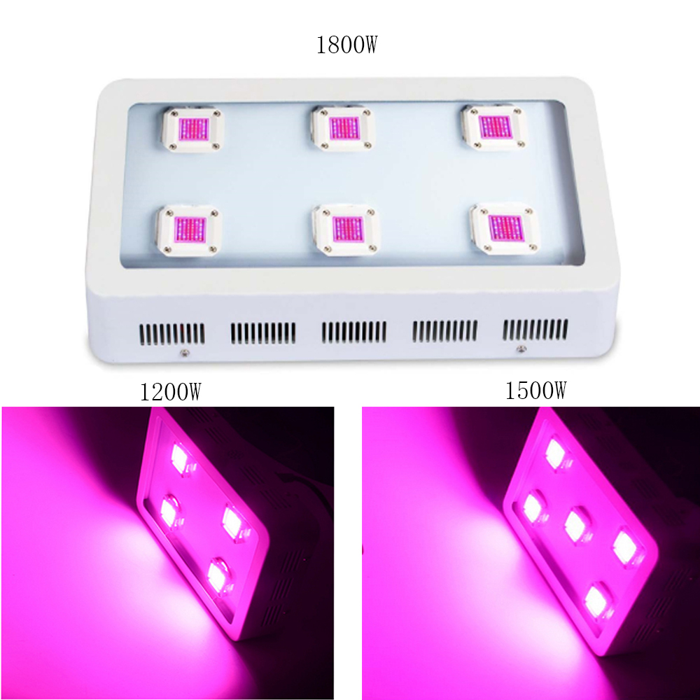 Indoor Gardening Grow Light LED 1200/1500/1800W COB LED Grow Light Full Spectrum Medical Hydroponic Plant Lamp Veg and Flowering