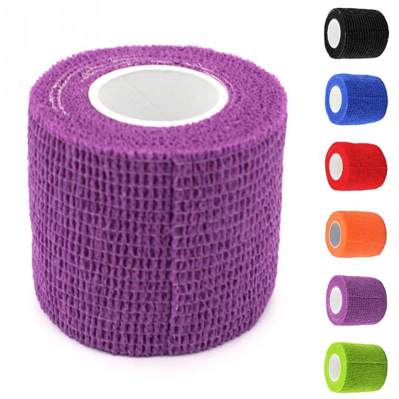 Disposable Bandage Kinematics Tape Cotton Self Adhesive Elastic Bandage For Non-woven Fabrics Tattoo Self-adhesive Bandage