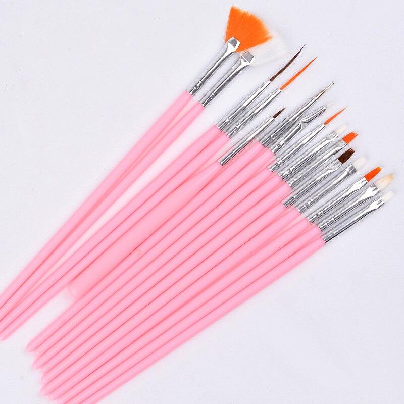 15 unids Profesional UV Gel Acrílico Nail Art Brush Set Diseño Gel - Arte de uñas - foto 2