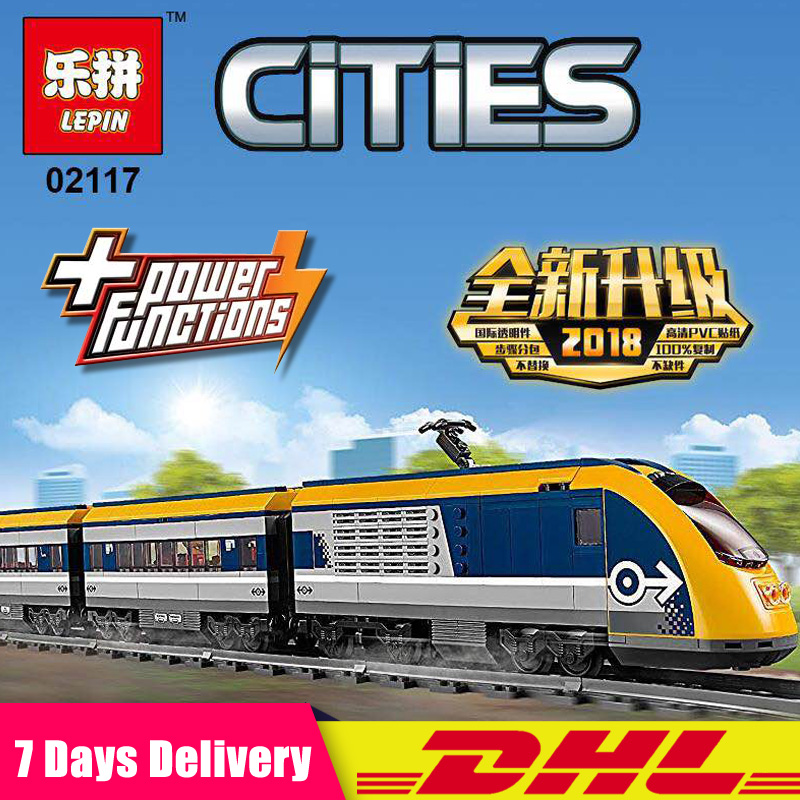 все цены на Compatible Legoingly 60197 Lepin Toy 02117 City Passenger Train Building Set Model Building Blocks Bricks Toys DIY Gifts онлайн
