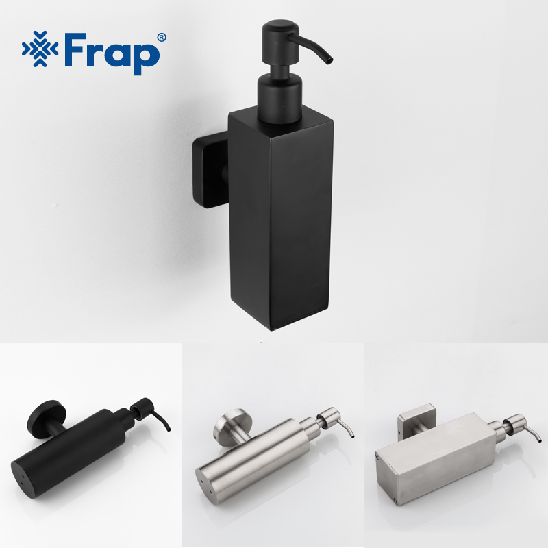 Frap Stainless Steel Soap Dispenser Kitchen Sink Faucet Bathroom Shampoo Box Soap Container Deck Mounted Detergent Bottle Y18001Frap Stainless Steel Soap Dispenser Kitchen Sink Faucet Bathroom Shampoo Box Soap Container Deck Mounted Detergent Bottle Y18001