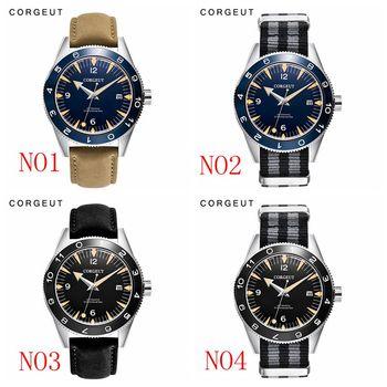 Corgeut Luxury top Brand Automatic Watch calendar date Men sapphire luminous Sport Design male Clock Mechanical Wrist Watches