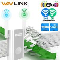 Repetidor extensor de rango WiFi Wavlink 1200Mbps amplificador de señal 2,4G + 5Ghz doble banda wifi repetidor/punto de acceso inalámbrico