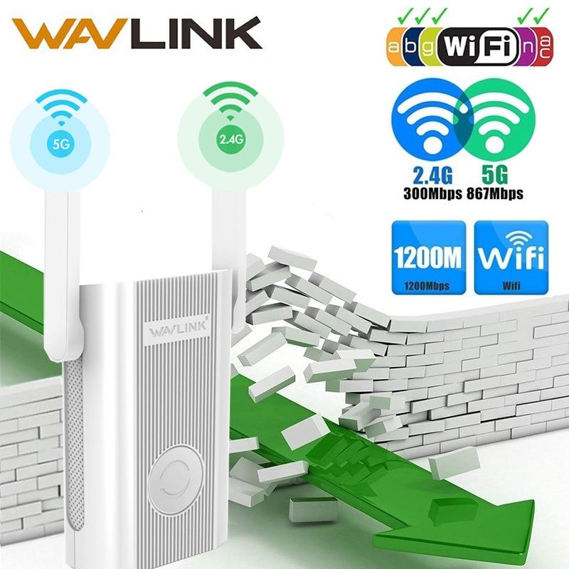 Wavlink WiFi Extensor de Alcance Repetidor 300mbps 1200 Ghz Dual Band de Reforço de Sinal 2.4G + 5 Amplificador wi-fi Repetidor/ ponto de Acesso sem fio