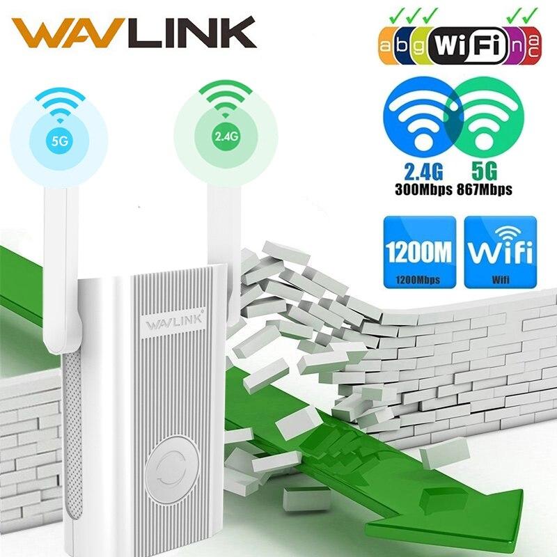 Wavlink wifi range extender repetidor 1200 mbps signal booster 2.4g + 5 ghz banda dupla wifi amplificador repetidor/ponto de acesso sem fio