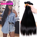 Peruvian Virgin Hair Straight 4 Bundles 10A Grade Virgin Unprocessed Human Hair Peruvian Straight Weave Bob Hair Extensions