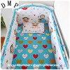 2016 6PCS Cotton Brand Baby Cot Crib Bedding Set For Girls Boys Cartoon Newborn Baby Bed