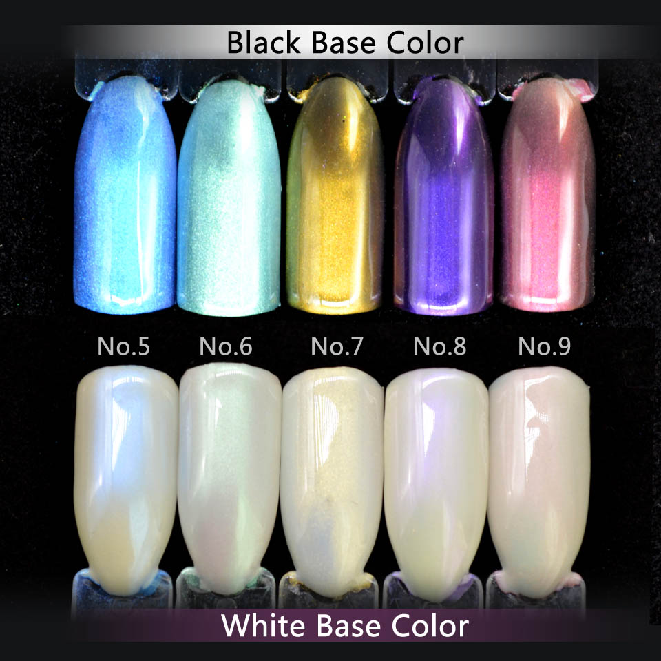 5 Colors Diamond Pearl Powder Shining Mermaid White Nail Art Glitter ...