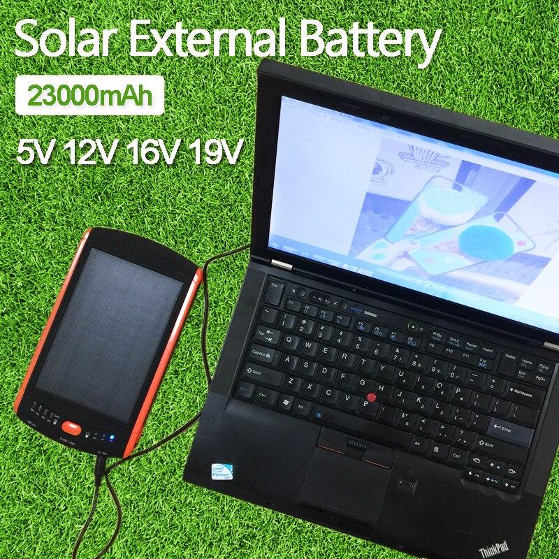 bilder für High-Power 23000 mAh Ladegerät für Laptop Backup-Power Große Kapazität Solar Externe Batterie 5 V 12 V 16 V 19 V Solarpanel Energienbank