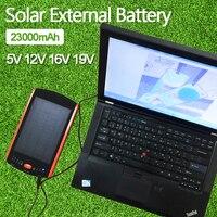 High Power 23000mAh Charger For Laptop Backup Power Large Capacity Solar External Battery 5V 12V 16V