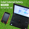High Power 23000mAh Charger For Laptop Backup Power Large Capacity Solar External Battery 5V 12V 16V