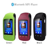 New Style Metal Bluetooth Sport MP3 Player Portable Audio 8GB Clip with Built in Speaker FM Radio APE Flac Music Player
