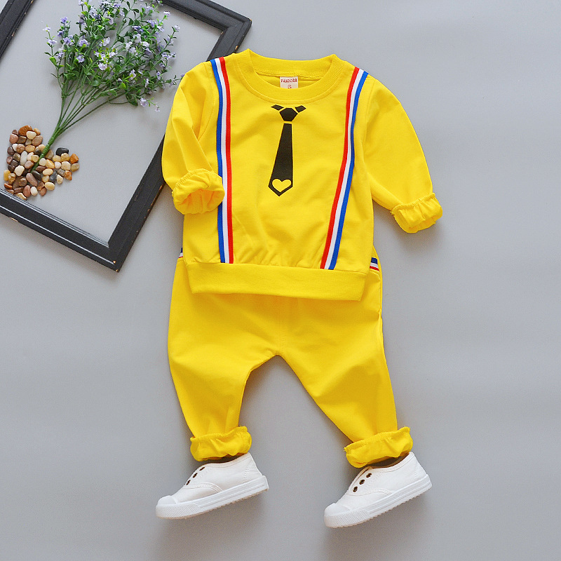 Children s clothing boy suit baby spring 1-2-3 year-old half girl long-sleeved tide 6 months two sets of leisure suit ...