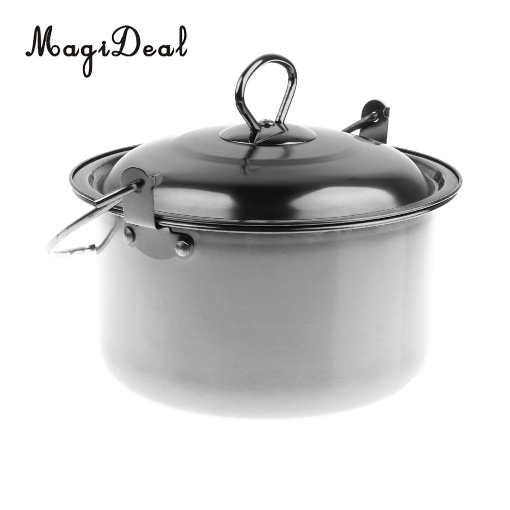Ultra-light Stainless Steel Camping Campfire Cooking Hanging Pot 18 x 10cm
