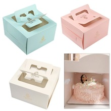 5 pcs Square Mini 4 Cheese Mousse Small West Point Birthday Cake Packaging Box Hand-held Wedding Sugar