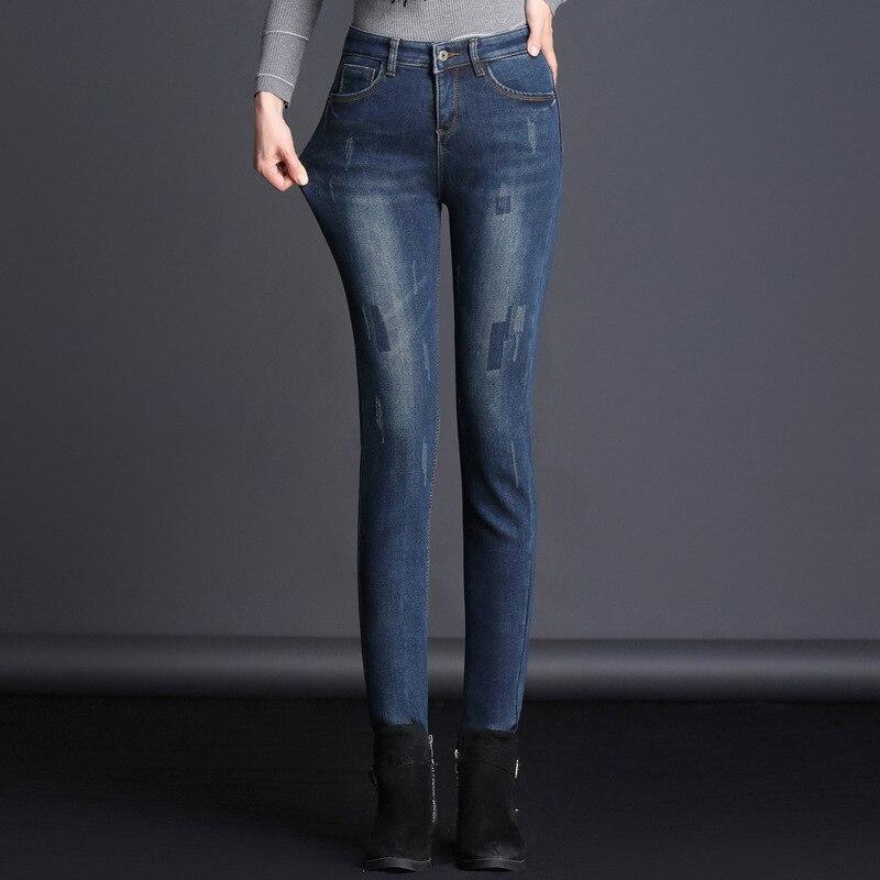MUM 2018 черные рваные джинсы для женщин новые эластичные рваные джинсы низ Feminino узкие брюки для женщин брюки 1AF101-105