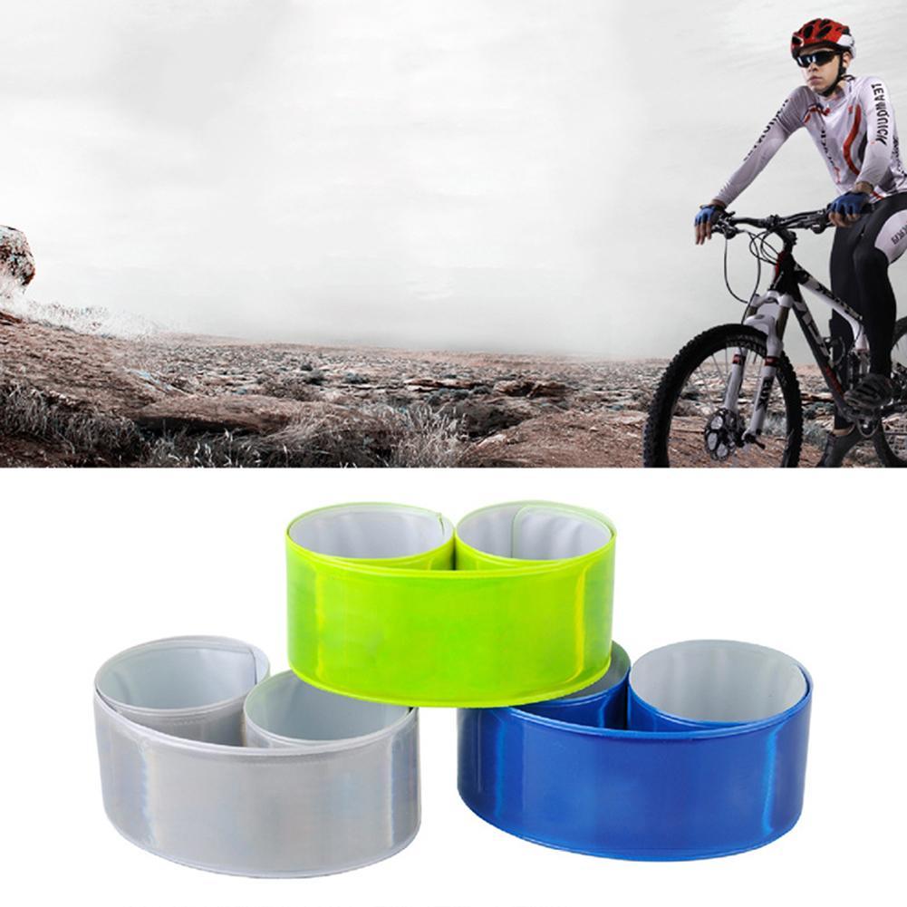 1PC Running Fishing Cycling Reflective Strips Warning Bike Safety Bicycle Bind Pants Leg Strap Reflective Tape Fluorescent Green