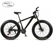 Wolf fang Fahrrad Mountainbike 21 geschwindigkeit Aluminium legierung rahmen fett bike Schnee bike Vorne und Hinten Mechanische Scheiben brade Männlichen