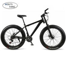 Wolfs fang bicicleta de montanha, disco mecânico de liga de alumínio com 21 velocidades para bicicleta, neve frontal e traseira brade masculino