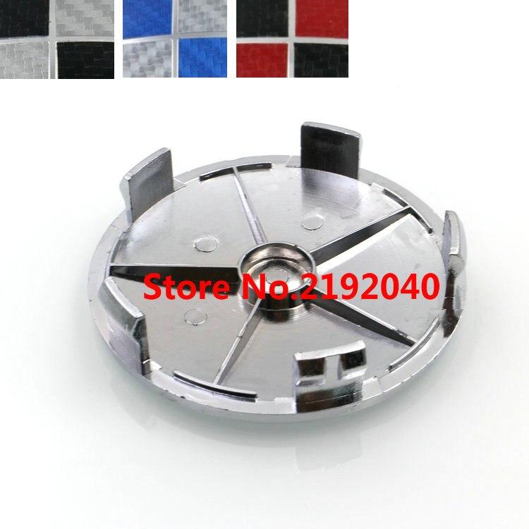 20pcs 68mm Carbon Fiber Blackwhite Bluewhite Blackred Car Wheel