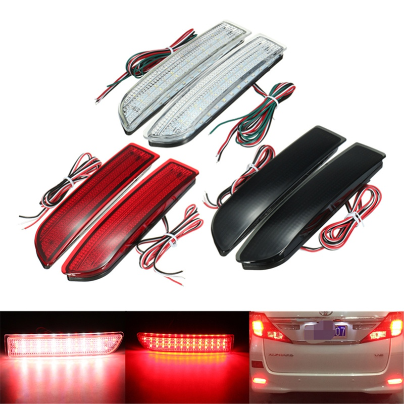 2x Car LED Tail Light Parking Brake Rear Bumper Reflector Lamp for Toyota Avensis/Alphard MK I/RAV4 Red Fog Stop Lights